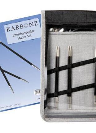 Набор съемных спиц  karbonz knitpro