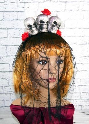 Хэллоуин головной убор убодок с вуалью три призрака