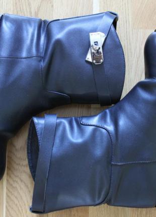 Кожаные сапоги полусапоги hermes демисезон 38 размер