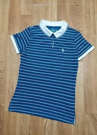 Поло u.s. polo assn в полоску футболка ральф лорен polo ralph lauren