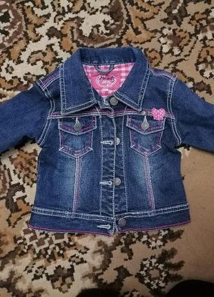 Джинсовка, джинсовый пиджак, куртка, для девочки
