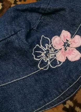Панама для девочки, джинсовая