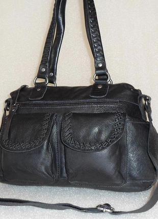 Крупная сумка/crossbody *5th avenue* натуральная кожа