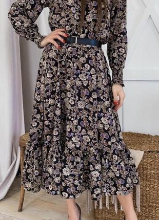 Цветочное платье софт