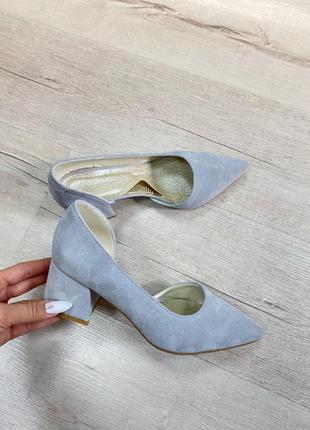 Туфли с итальянского замша замшевые