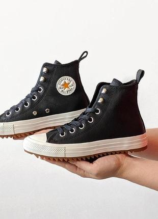 Оригинальные кеды converse hi hiker dark black leather