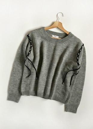 Идеальный базовый теплый свитер oversize sweewe (франция)