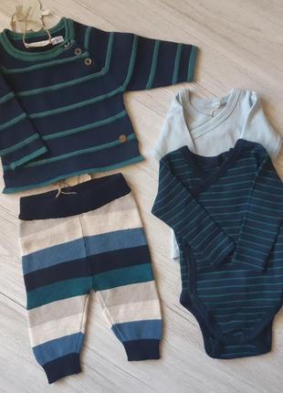 Набор кофта штаны боди с длинным рукавом lupilu