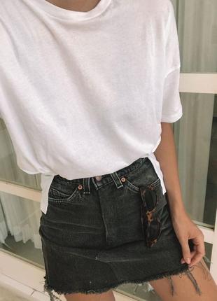 Крутая джинсовая юбка новая!