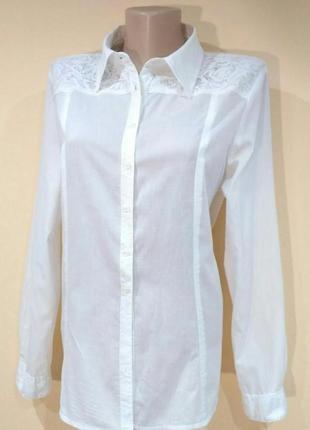 Блуза рубашка benotti кружево