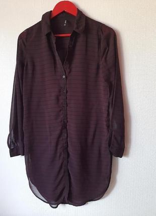 Удлиненная рубашка-платье