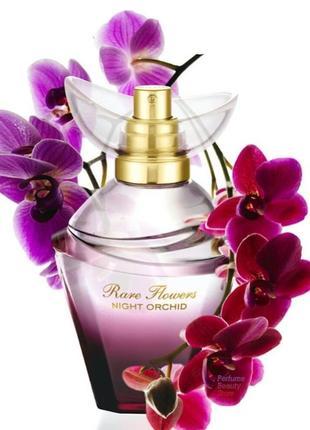 Парфюмированная вода rare flowers night orchid рар флаверс найт орхид ночная орхидея эйвон