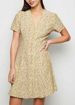 Шикарное платье халат на пуговицах в цветочек чайное платье сукня