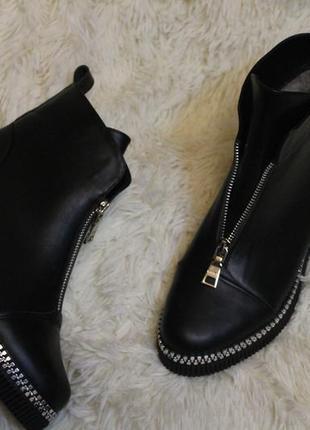 Распродажа! натуральная кожа! женские ботинки 36-41р