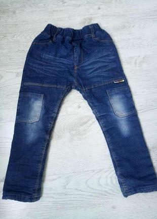 Джинсы штаны брюки утепленные теплые на подкладке