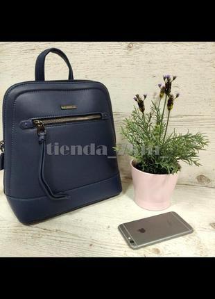Рюкзак небольшого размера david jones 6111-2t синий , стильный, городской