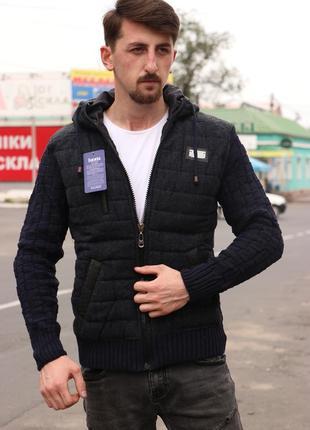Куртка свитер мужская вязаная