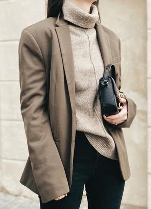 Пиджак цвета милитари zara
