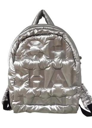 Рюкзак модный серебристый