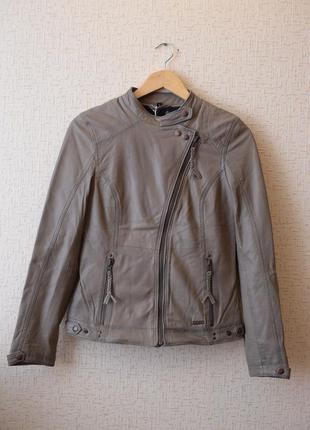 Крутая кожаная куртка- косуха mustang