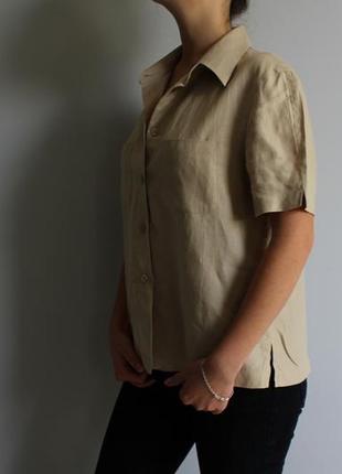 Рубашка з льону giorgio armani