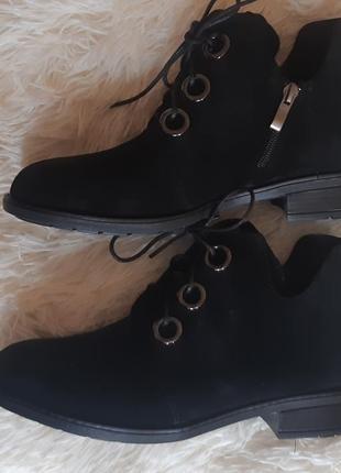 Натуральная кожа! замшевые ботинки, туфли