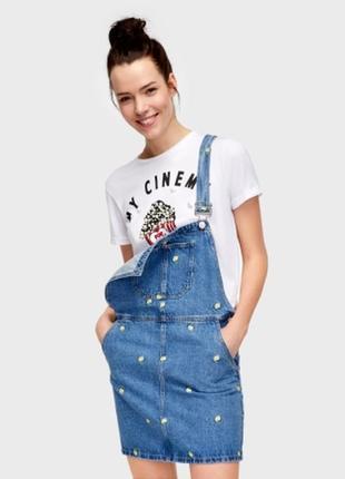 Комбинезон джинсовый с вышивкой