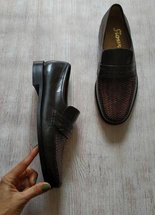 Sioux, кожаные туфли лоферы, мокасины с плетением