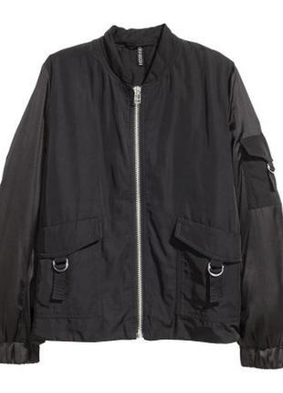 Бомбер новый куртка сатин
