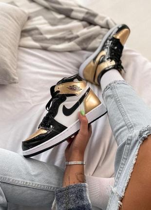 Nike air jordan 🆕 женские кроссовки найк джордан 🆕 черные/белые/бежевые