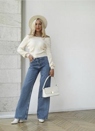 Джинсы трубы деним джинсы