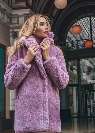 Красивенное пальто тедди барашек