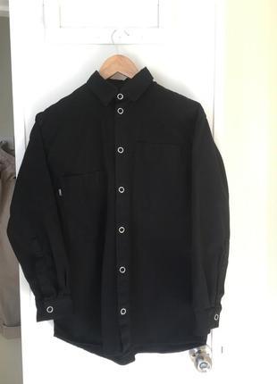Syndicate рубашка черная классическая унисекс овершерт шакет