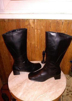 Новые,кожаные,чёрные,деми,сапоги,salamander,на полную ногу,большого размера,стелька 27,5