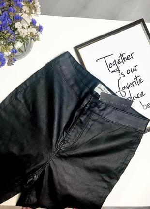 Брюки штаны с кожаным напылением