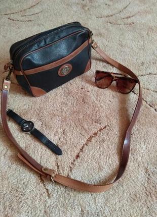 Шикарная итальянская кожаная сумка le sabbi