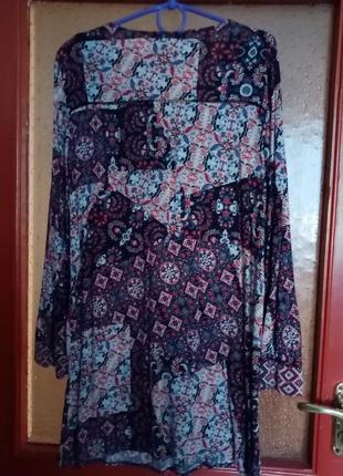 Бохо платье с этно-рисунком