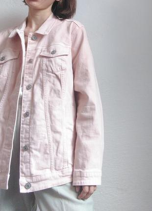 Джинсовка оверсайз yessica світла джинсова куртка zara mango bershka cos