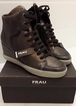 Ботинки, сникерсы женские , кожаные, frau, италия,