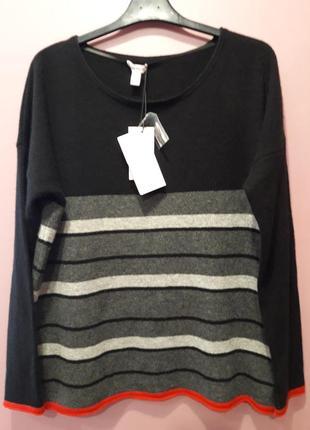 Кашемировый свитер черного цвета