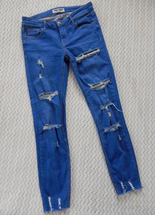 Джинси джинсы скини рваные леггинсы джегинсы tally weijl