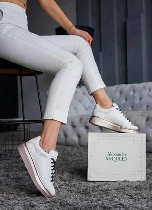 Кроссовки женские alexander mcqueen белые (александр маккуин, кросівки)
