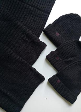 Стильный комплект: вязаные шапка и шарф-снуд на мальчика от pepperts. германия.