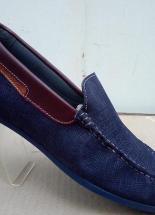 Мокасины кожа под джинс