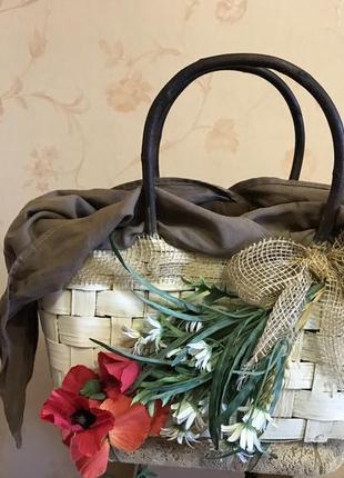 Итальянская соломка, сумка ручной работы