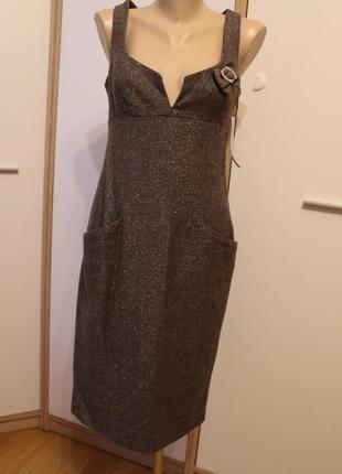 Фирменное платье selena в офис. классическое платье шерсть демисезонное