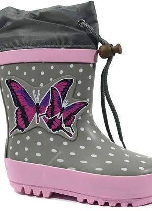 Резиновые сапоги bi&ki бабочки