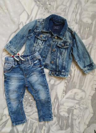 Джинсовый пиджак джинсы