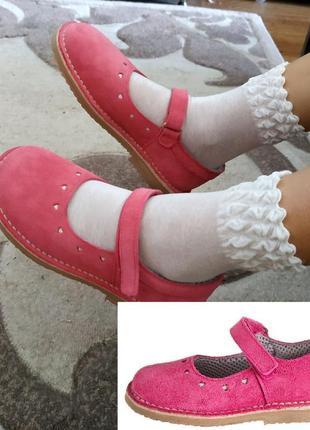 Туфли lamino германия натуральная замша кожа розовые
