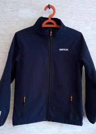 Термокуртка виндстопер софтшелл на мальчика бренд vertical